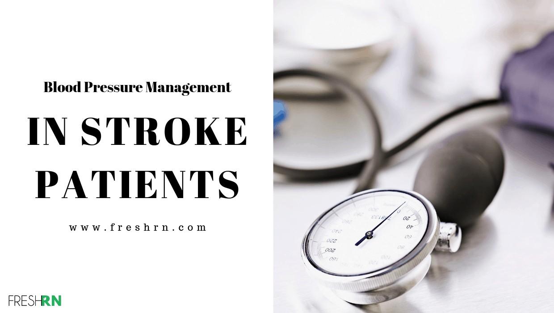Nursing Blood Pressure Management in Stroke Patients