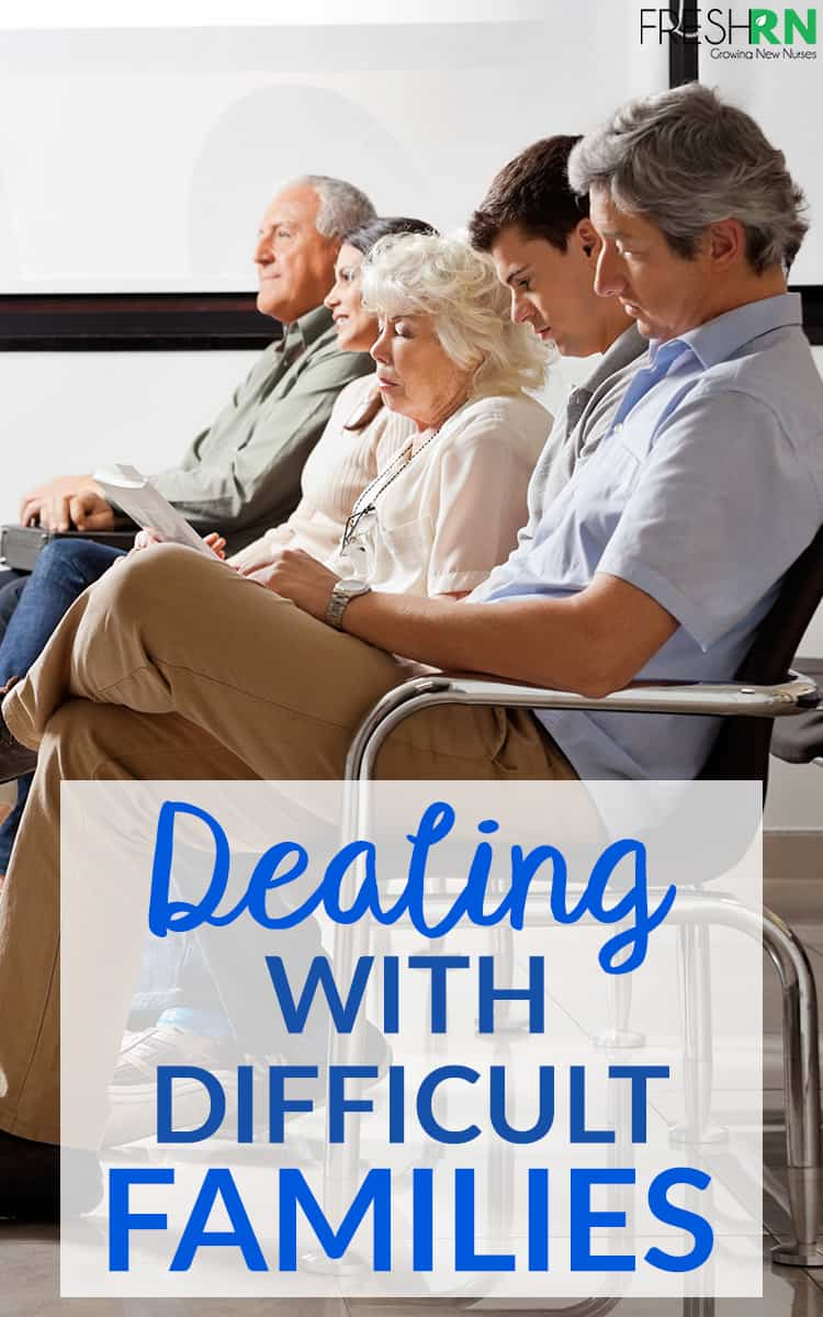 Let's talk about something that you might not have learned in nursing school - how to deal with difficult families. I hope my experience helps you out (and makes you feel less alone). #freshrn #patientcare #nurse #nurses #families