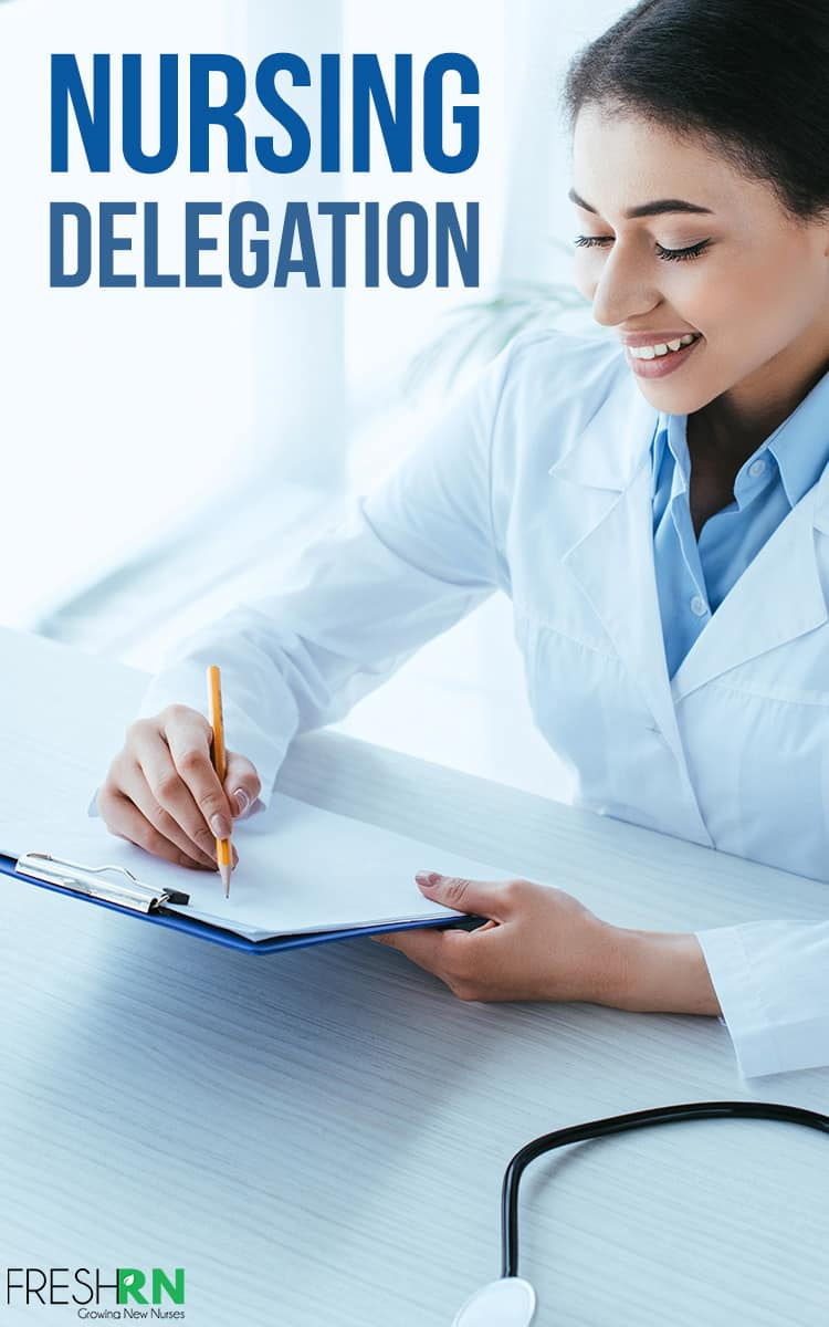 How To Master Nursing Delegation. This is so important! Nursing delegation frees up your mind so you can focus on the most important tasks first. Here's how to master it. #FreshRn #nurse #nurses #delegation #nursetips
