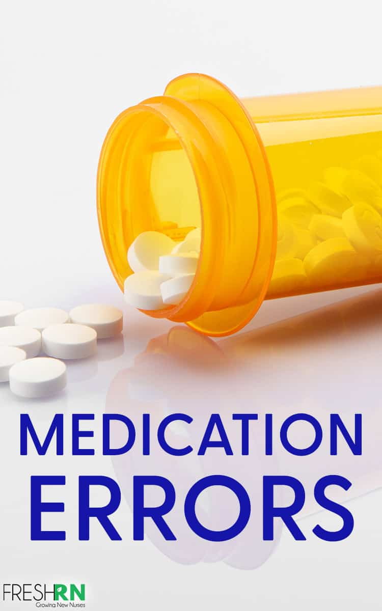How To Avoid Medication Errors As A Nurse. One of the most terrifying things for new nurse grads is accidentally messing up a patient's meds. This is how to avoid medication errors. #FreshRN #nurse #nurses #medication #errors #newnurse #patientcare