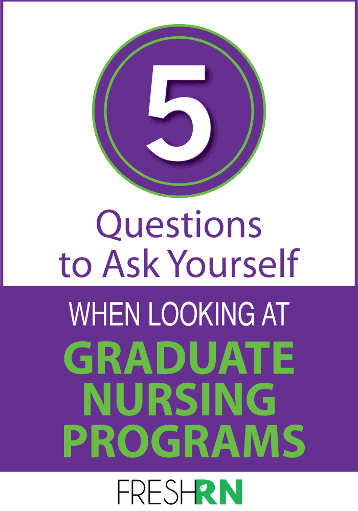Continuing your nursing education is an exciting time. Check out 5 questions you should ask yourself when looking at nursing graduate programs.