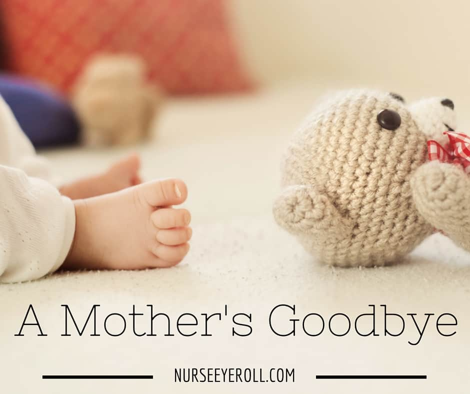Guest Blog Post:  A Mother's Goodbye