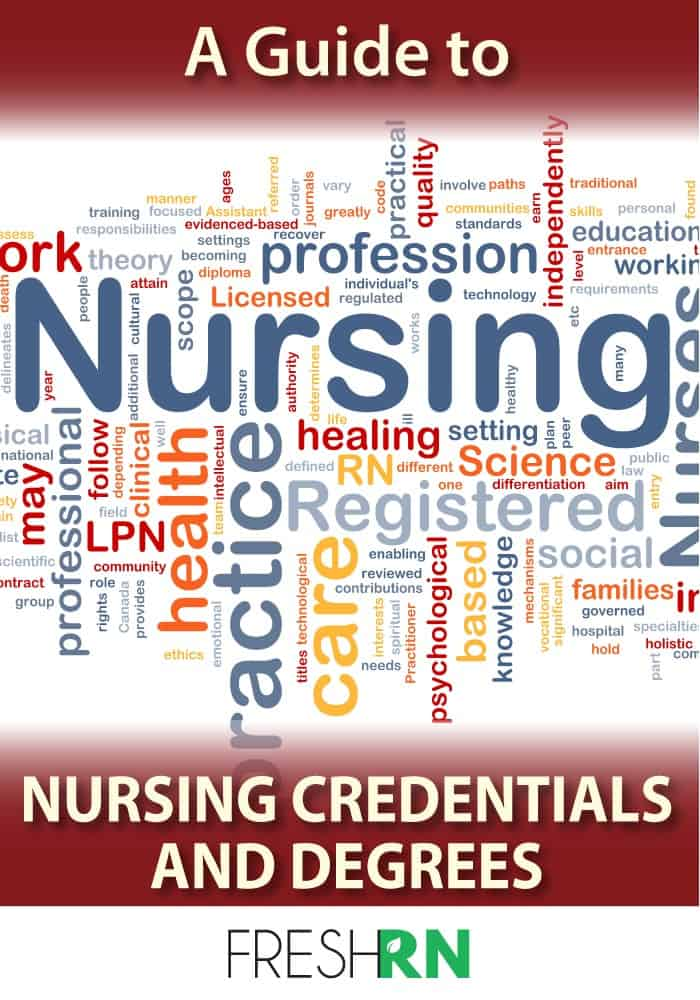 nursing credentials
