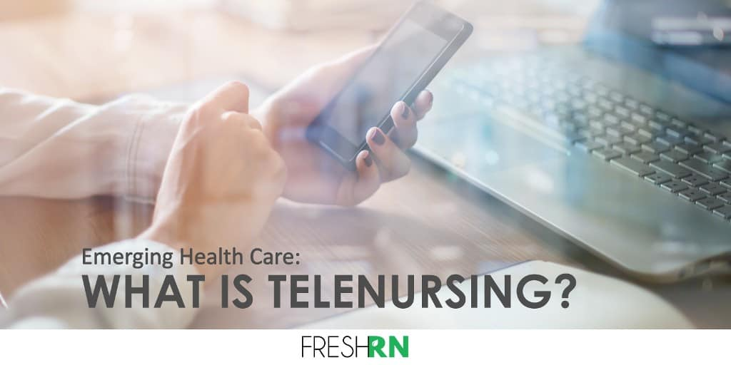 What is telenursing? Nurses are now able to interact with patients remotely, thanks to advances in technology, thus the terms telenursing.
