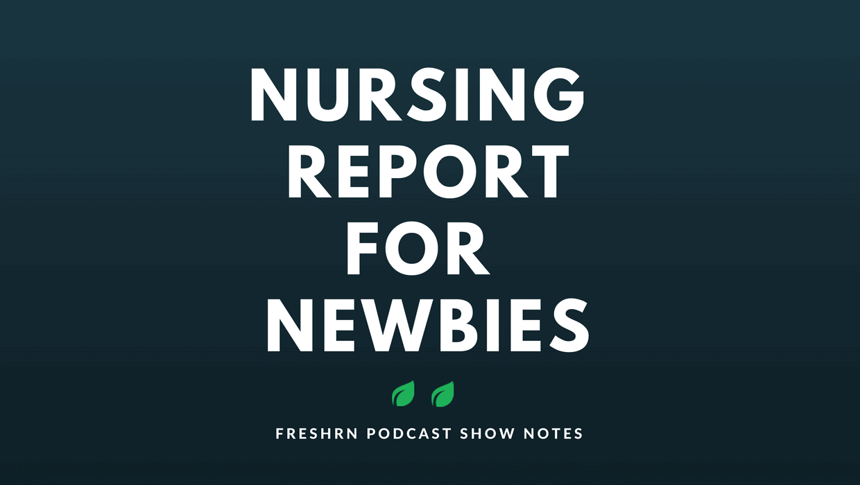 This episode discusses the basic considerations for nursing report, including etiquette, LDA's, meds, concerns for the health care team, and alarms
