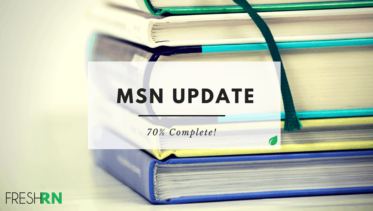 MSN Update – Almost 70% Complete!