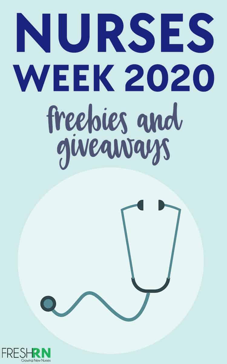 2020 Nurses Week Giveaway and Freebies. Enter to win the Nurses Week giveaway and snag some freebies. #FreshRN #nurse #nurses #nursesweek #giveaway #freebies