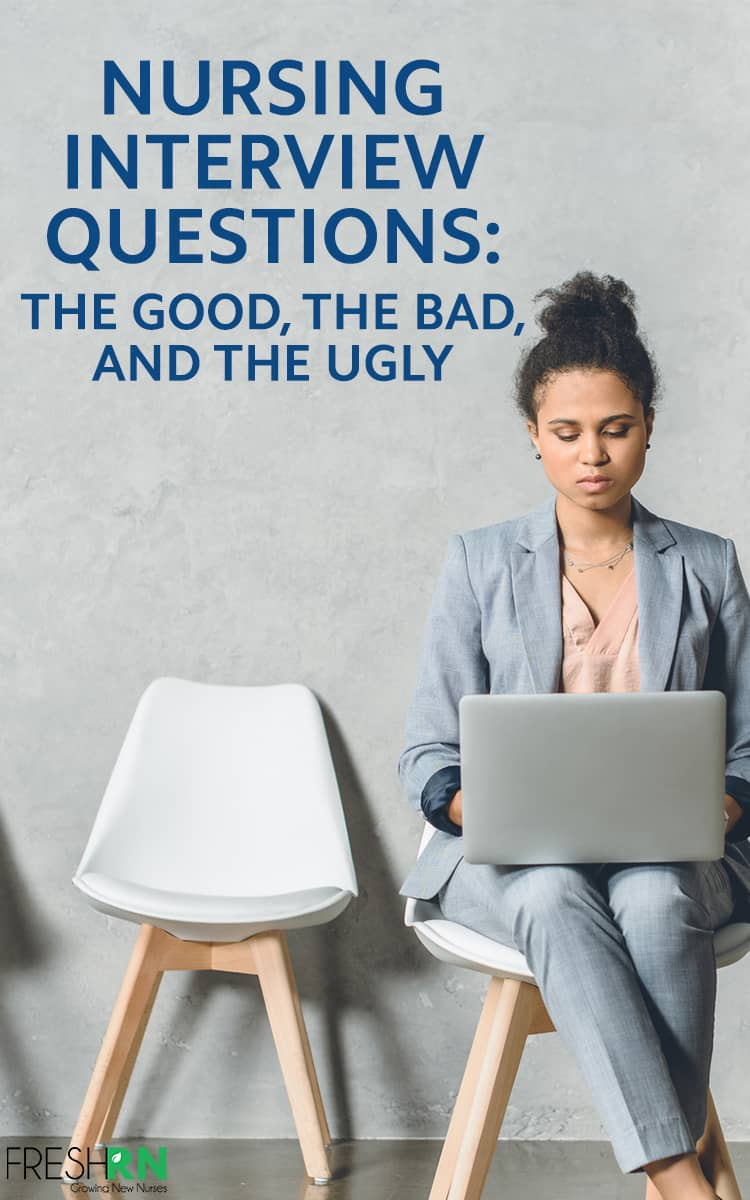 Nursing Interview Questions: The Good, the Bad, and the Ugly. In this episode Kati, Amber, and Chelsea sit down to discuss nursing interviews. We cover some very common nursing interview questions, discuss good and bad answers, and learn what your interviewer is really thinking.  #FreshRN #podcast #FreshRNpodcast #shownotes #nurse #nurses #interview #nurseinterview #nurseresume